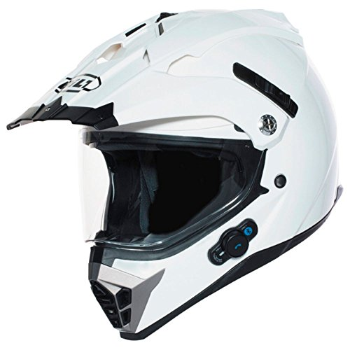 BILT Techno Bluetooth Adventure Motorcycle Helmet – MD, White