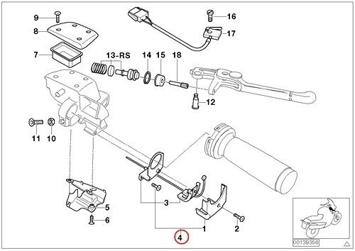 bmw genuine motorcycle handle repair kit accelerator cable deflection d 45mm r1100s k1200lt