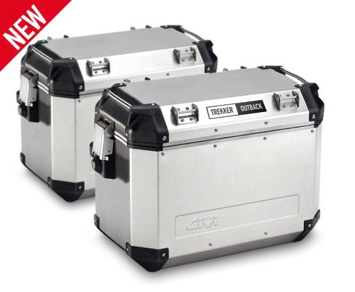 Givi Outback Silver Cases