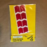 BMW R1200GS Adventure Saddlebag Corner Reflective Tape kit RED Chevron ME RK-44R