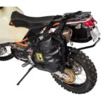 Tusk Pannier Racks with Wolfman Expedition Dry Saddle Bags BLACK – KTM 950 990 ADVENTURE 2002-2013