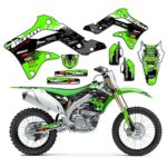 Team Racing Graphics kit for 2010-2018 Kawasaki KLX 110, SCATTER